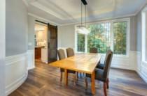 Light, bright dining room
